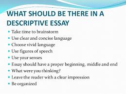 prerequisites of a good descriptive essay  20 use a