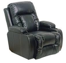 catnapper top leather theater seating in black with multiple seat and power options