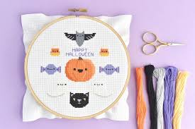 Free Cross Stitch Charts For Beginners Free Happy Halloween Cross Stitch Pattern