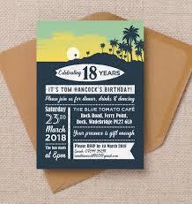 Surf Hawaiian Themed 18th Birthday Party Invitation From 0 90 Each