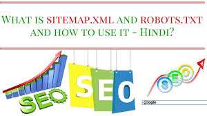 what is sitemap xml and robots txt and