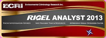 environmental criminology research inc geographic profiling ecri has released the annual update to its popular rigel analyst geographic profiling software rigel analyst 2013 is an update of rigel analyst 2012