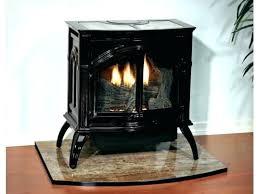 free standing ventless propane fireplace freestanding gas