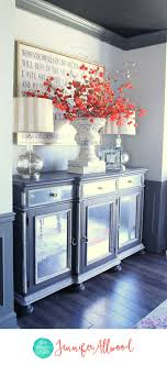 contact paper for furniture. Gorgeous Mirrored Buffet In Gray Dining Room - How To Make Furniture With Contact Paper | DIY Mirror Ideas Adding Mirrors For