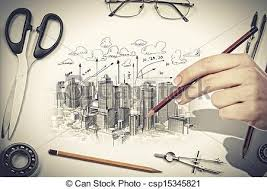 architectural hand drawings. Perfect Hand Architectural Project  Csp15345821 For Hand Drawings
