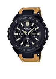 g shock watches for men belk g shock g steel black face ana digi mustard color leather band