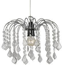 crystal effect pendant shade with transpa acrylic droplets clear traditional pendant lighting by happy homewares limited