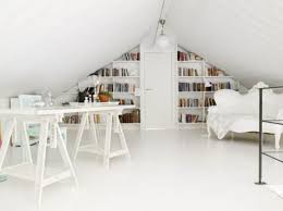 attic home office. View In Gallery Bright And Airy Attic Home Office