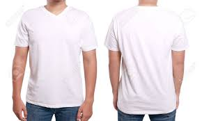 Shirt Mock Up White T Shirt Mock Up Front And Back View Isolated Male Model