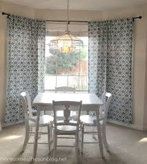 diy bay window curtain rod for less than 10 how to hang eyelet curtains in a
