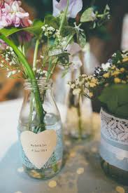 Milk Bottle Table Decorations Charming Thoughtful Bronte Novel Inspired Wedding Bronte 2
