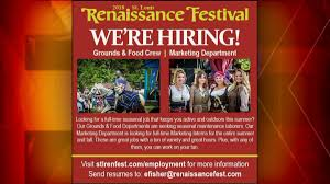 Summer Seasonal Jobs Never Too Late To Look For A Summer Job Renaissance Festival Is