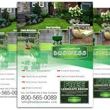 Lawn Care Brochure Lawn Care Flyer Design 3 The Lawn Market