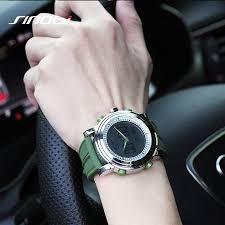 sinobi sport watch waterproof woodeal sinobi sport watches for men silicone strap brand