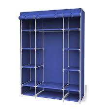 enclosed garment rack furniture heavy duty portable clothes closet covered garment rack