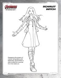 Disegni Da Colorare Degli Avengers Scarlett Witch Blogmamma It Con