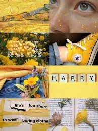 Aesthetic collage, Yellow aesthetic ...
