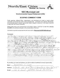 1/29/2009) MunicipalJailSEPA - NEC EIS Scoping Statement - Factors that  Should be Considered