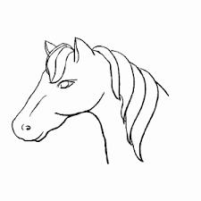 Kleurplaat Paardenhoofd Elegant Tekening Paard Makkelijk Archidev
