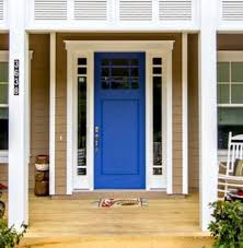 blue front door colors