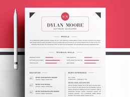 Best Modern Clean Resume Design Modern And Clean Resume Template By Resume Templates On Dribbble