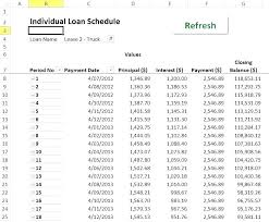 Sample Loan Amortization Schedule Excel Excel Loan Payment Template
