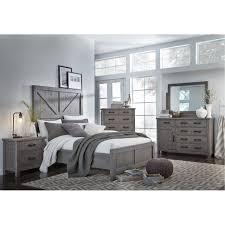 rustic gray bedroom set. Brilliant Set Gray Rustic 4 Piece Queen Bedroom Set  Austin  RC Willey Furniture Store Throughout