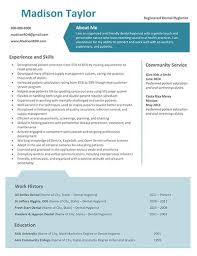 Madison Resume Template Rdh Resumes And Career Guidance Free Tips