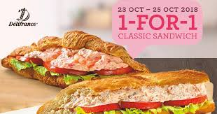 Delifrance is offering 1-for-1 Classic Sandwiches from October 23 ...