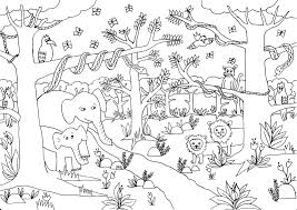 Printable Jungle Scene Coloring Pages L