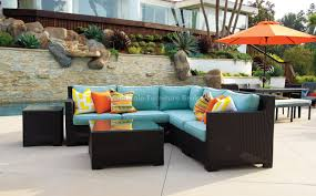 Patio Outstanding Patio Furniture Sofa Astounding Light Blue And Outdoor Patio Furniture Sectionals