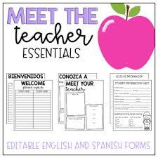 School Supplies List Template Meet The Teacher Pack