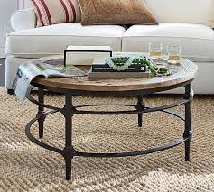 parquet reclaimed wood round table via