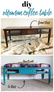 how to make an ottoman out of an old coffee table easy diy project for