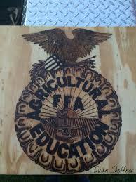 Ffa Logo Embroidery Design Ffa Emblem Wood Burned In Plywood And Donated To My Ffa