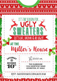 Christmas Inviations Ugly Sweater Party Invitation Christmas Holiday Ugly Sweater Party Christmas Invitation Christmas Party Invite Holiday Party Invite
