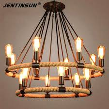 chandelier with edison bulbs retro hemp rope chandeliers lamps vintage bulb 6 8 bulbs hemp cord chandelier with edison bulbs