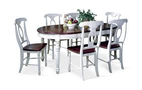british isle oval leg table with 4 napoleon side chairs