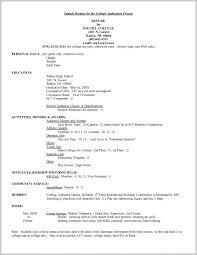 College Application Resume Template Bravebtr Classy College Admission Resume