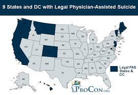States With Legal Physician Assisted Suicide Euthanasia