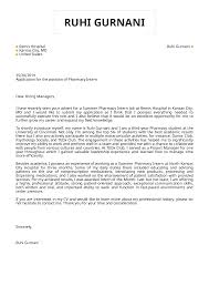 Pharmacy Cover Letter Examples Cover Letter Examples By Real People Pharmacy Intern Cover