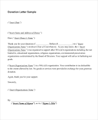 Sample Donation Letters Sample Donation Letter 10 Examples In Word Pdf