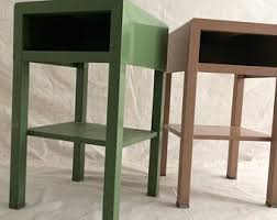 Image End Tables Simmons Metal Nightstand Art Deco Mid Century Modern Industrial Metal Steel Machine Age Side Table Pedestal Stand Etsy Metal Nightstand Etsy
