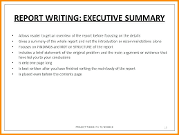 Executive Summary Example Resume And Free With Sample For Simple ...