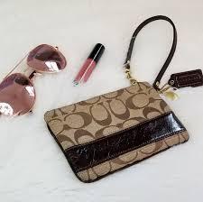 💎Authentic Coach Monogram Wristlet Wallet
