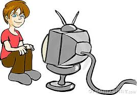 boy watching tv clipart. person watching tv clipart boy i