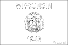 Small Picture Wisconsin State Flag Coloring Pages USA for Kids