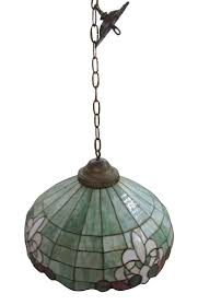antique stained glass hanging light