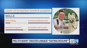 Dating Resume MSU Student Creates 'dating Resume' YouTube 33