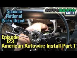 american autowire installation mustang part episode  american autowire installation 65 mustang part 1 episode 123 autorestomod